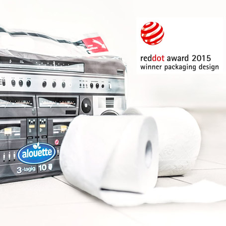 Red Dot Award für alouette Toilettenpapier
