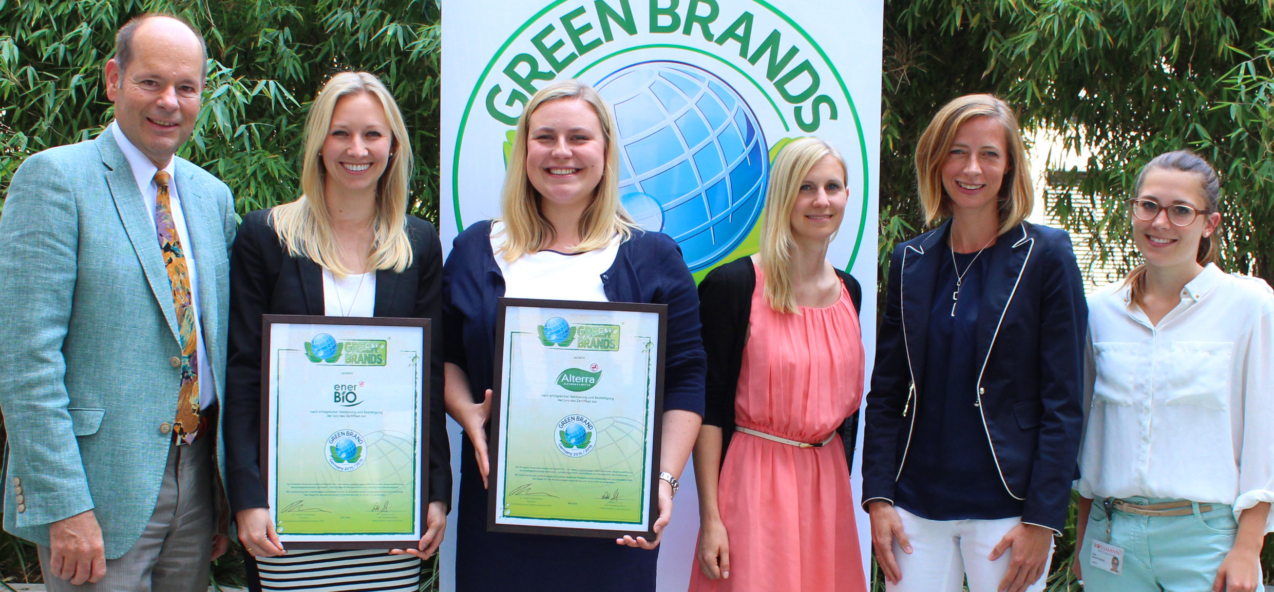 GREEN BRANDS Award für Alterra & enerBiO